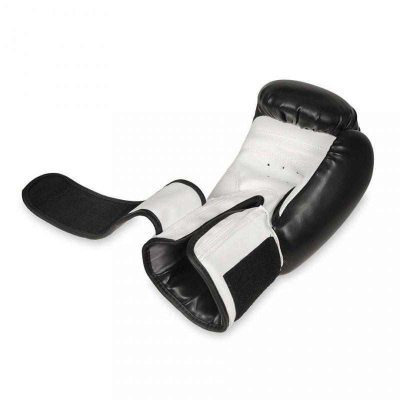 Rękawice Bokserskie Sparingowe Czarno-Białe ARB-407a 12 OZ