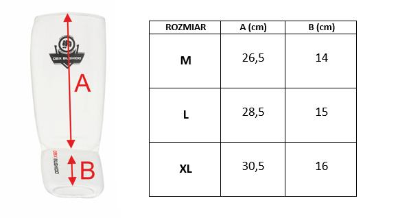 Elastyczne ochraniacze na piszczele  - Goleń i Stopa ARP-2107 - białe - L