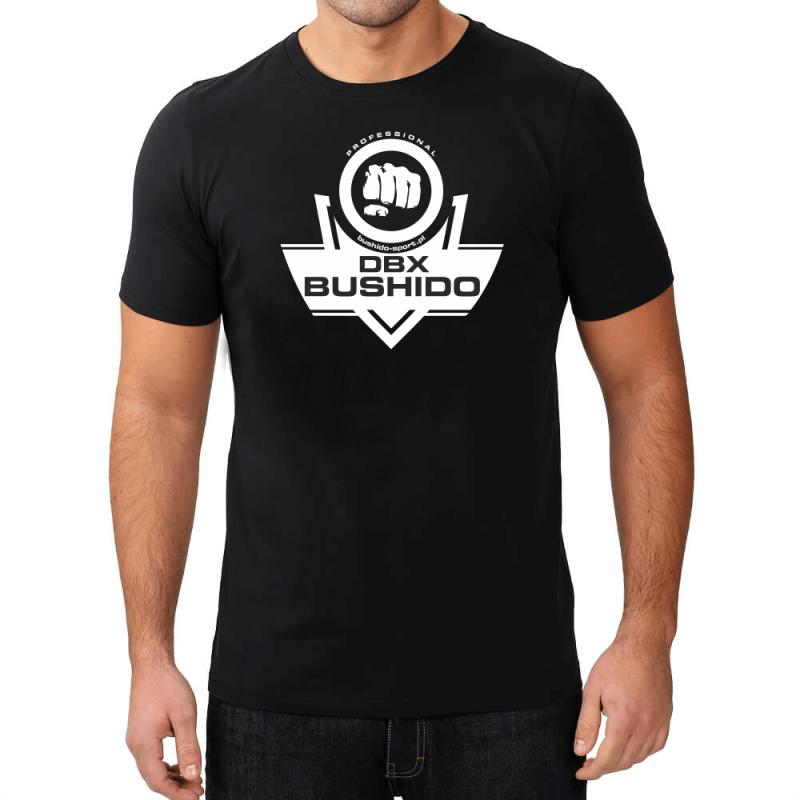 T-Shirt KOSZULKA BAWEŁNIANA DBX BUSHIDO CLASSIC BRAND WHITE KT11-M