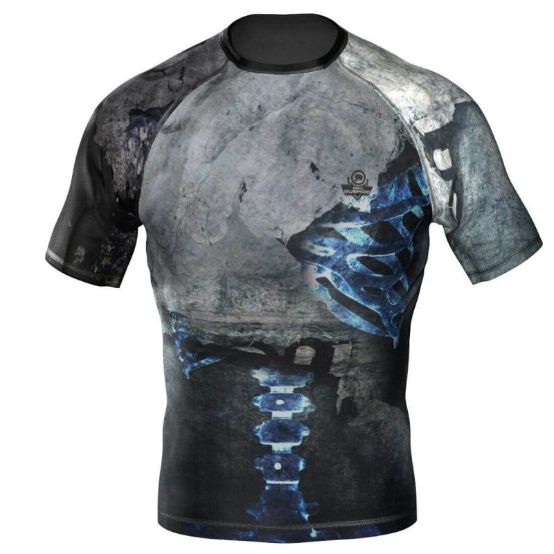 "Rashguard krótki ""Bones"" Koszulka kompresyjna MMA, BJJ, DBX BUSHIDO R-118H XL"