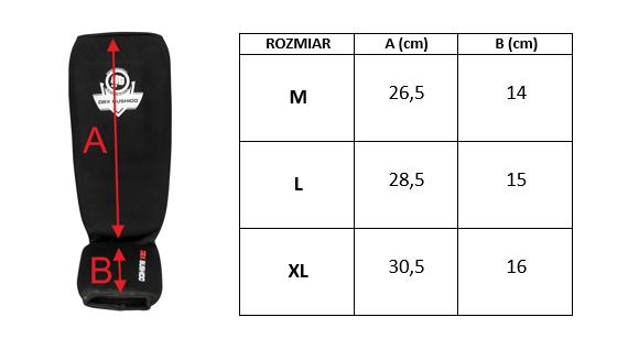 Elastyczne ochraniacze na piszczele czewone - Goleń i Stopa  SP-20v2 XL