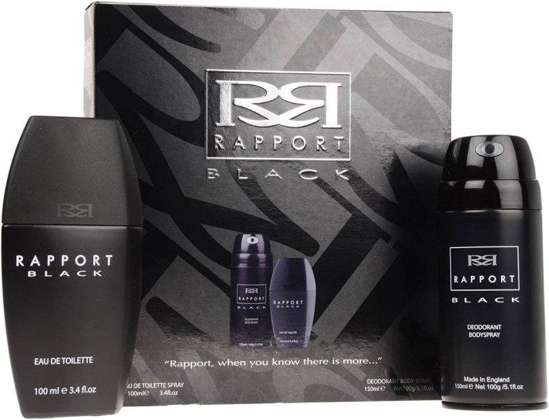 Rapport Black zestaw dla mężczyzn woda toaletowa 100 ml + dezodorant 150 ml