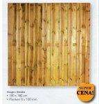D09 płot lamelowy, deskowy (180x180)