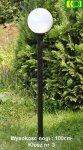 Lampa ogrodowa 120cm z kloszem