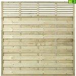 Drewnainy płot lamelowy prosty  LINE 180x180