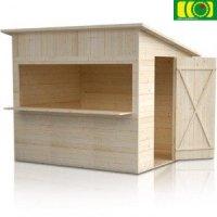 Drewniany domek ogrodowy SKLEPIK IRYS  240/200