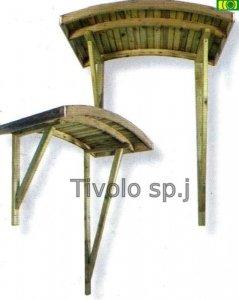 W08 drewniane zadaszenie ARCHED (190x82x150)