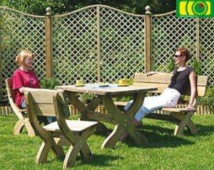komplet mebli ogrodowych - stół prostokątny