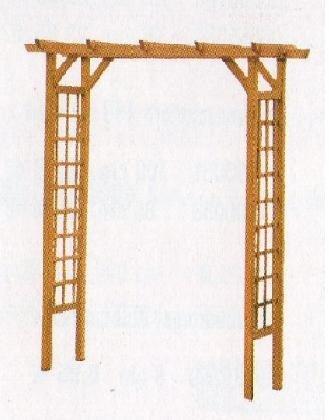 Drewniana pergola przejściowa 240x150x50