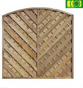 L18 płot diagonalny pelny z łukiem (180x180)