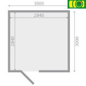 DM11 drewniany domek ogrodowy HIACYNT (300/300)