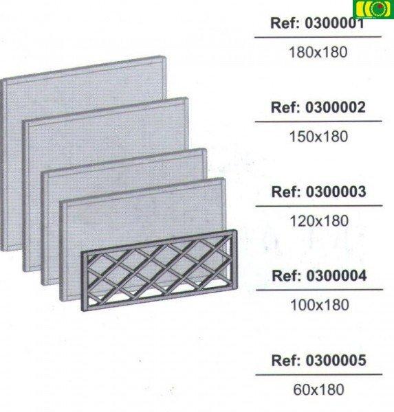 KR9  kratka w ramie prosta (60x180)
