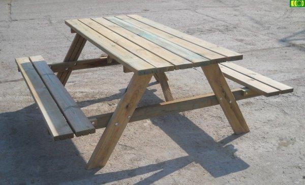 stół drewniany do ogrodu (180)