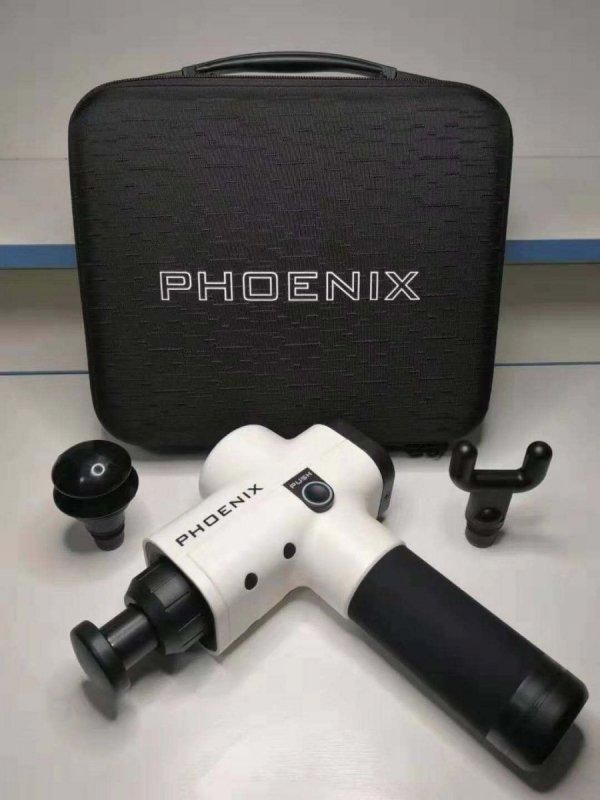 Pistolet Sportowca PHOENIX - masażer wibracyjny (wersja limitowna w kolorze biało-czarnym)