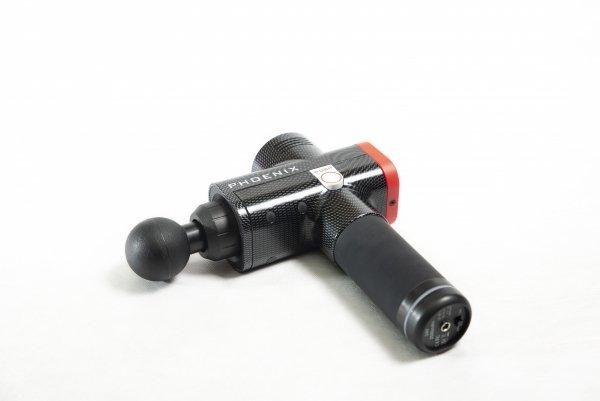 Pistolet Sportowca Phoenix Pro - masażer wibracyjny (wersja w kolorze czarno-czerwonym karbo)