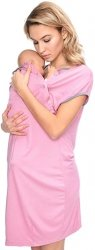 MijaCulture - koszula do porodu 4128 M92 granat1