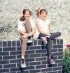 Legginsy dziewczęce getry dla dzieci ZOE grafit