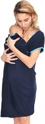 MijaCulture - koszula do porodu 4128 M92 granat 1
