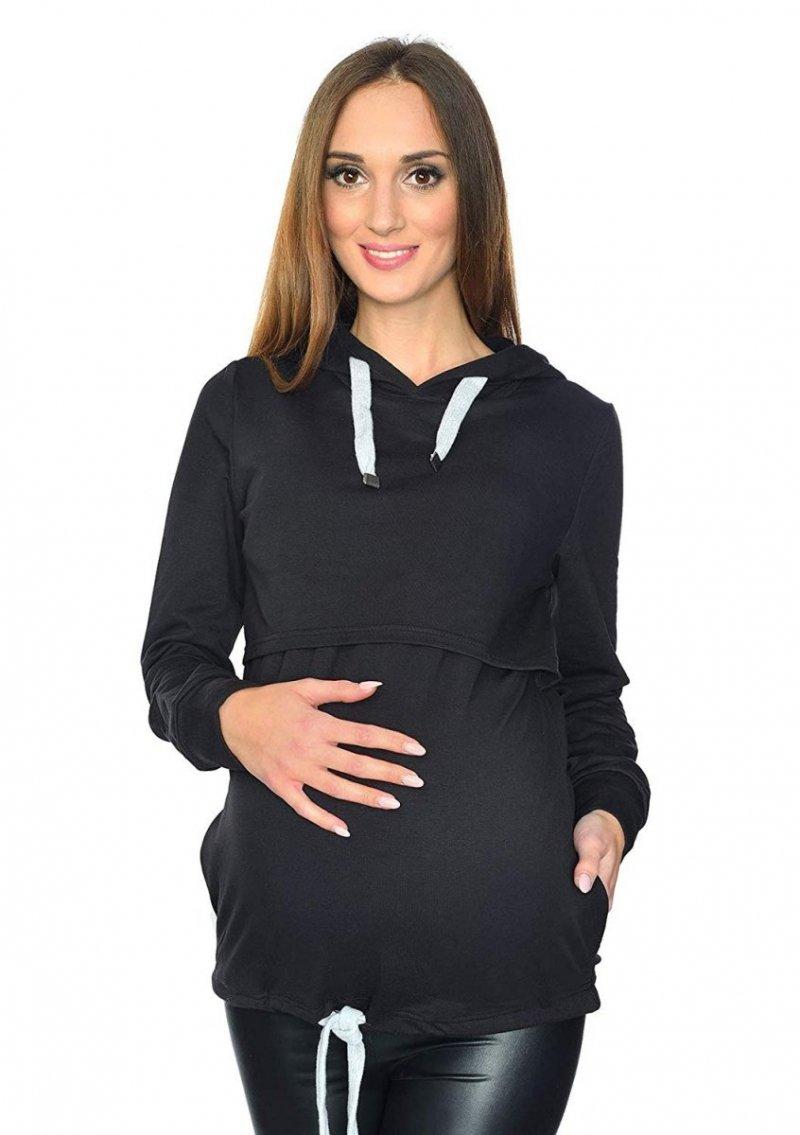 MijaCulture - 3 w 1 bluza ciążowa i do karmienia M68 4110 czarny
