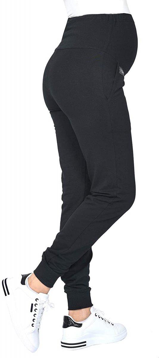 MijaCulture Wygodne spodnie dresowe ciążowe Coco M003 czarny5