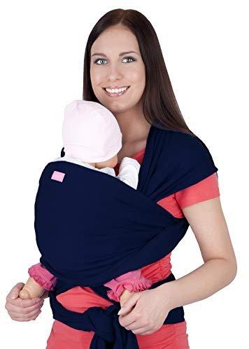 MijaCulture - chusta do noszenia dzieci 4011/M28 granatowa