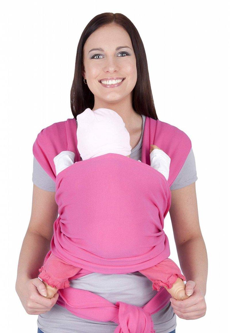 MijaCulture - chusta do noszenia dzieci 4011/M28 różowy
