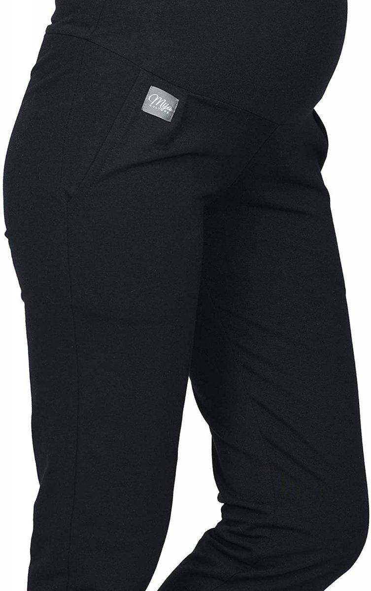 MijaCulture Wygodne spodnie dresowe ciążowe Coco M003 czarny2
