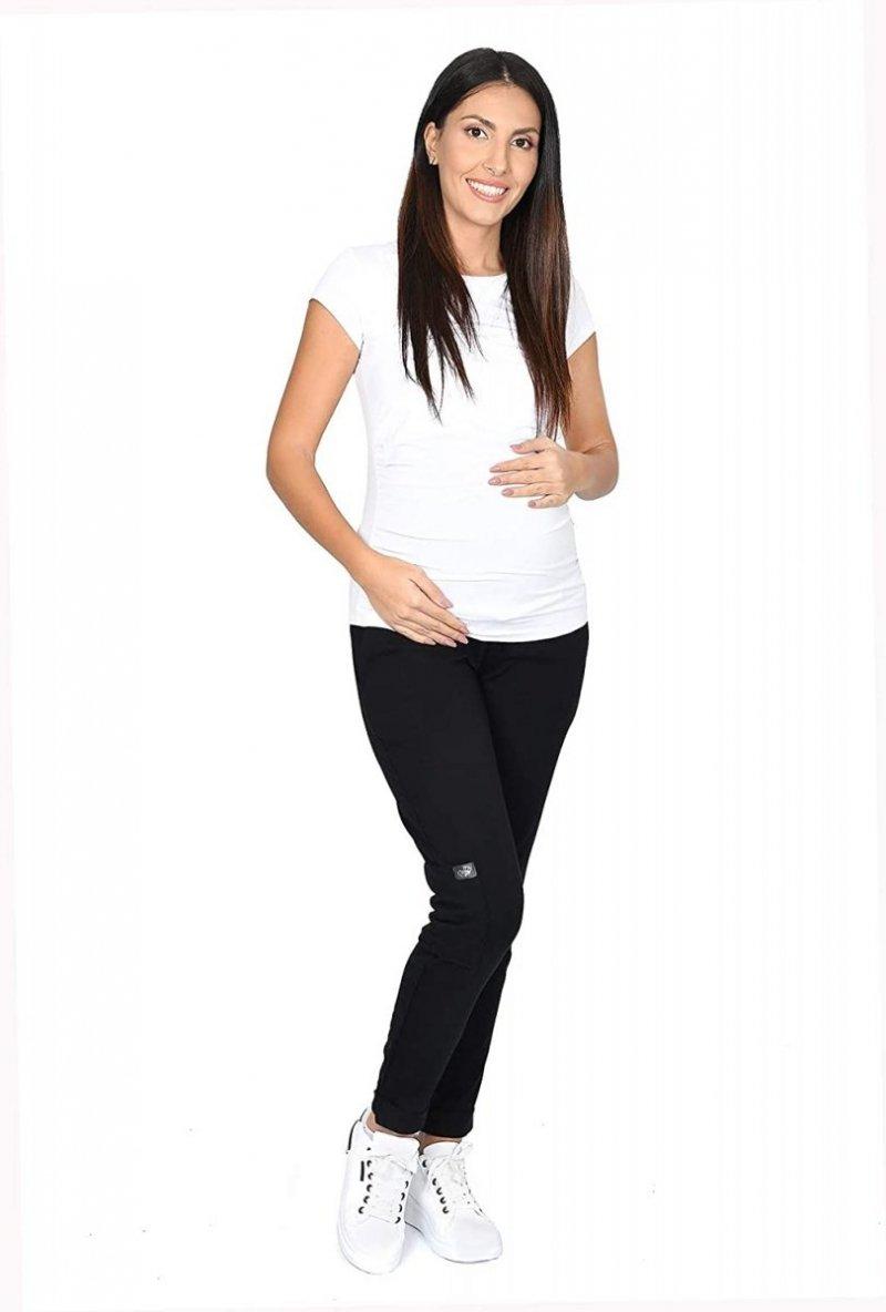 MijaCulture Wygodne spodnie dresowe ciążowe ZOE M002 czarny3