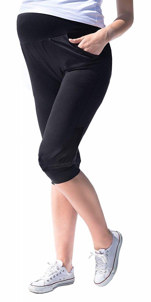 MijaCulture - spodnie rybaczki /alladynki ciążowe 4037/M48 czarny