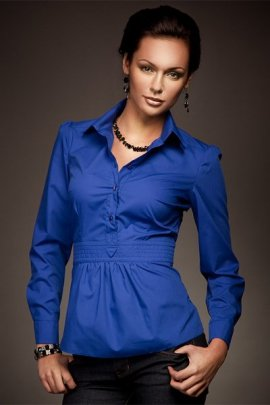 Wyjątkowa koszula w modnym fasonie - royal - K23