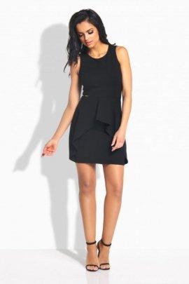 L187 Kobieca sukienka z falbanką czarny