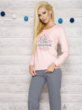Piżama Sylwia 286 AW/17 K1 Różowa