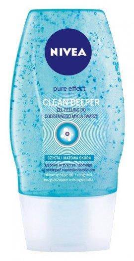 Nivea Pure Effect Żel-peeling do mycia twarzy Clean Deeper  150ml