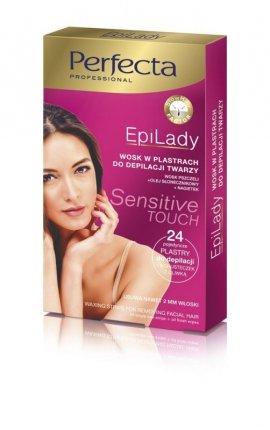 Dax Cosmetics Perfecta EpiLady Wosk do depilacji twarzy w plastrach  1op.-24szt