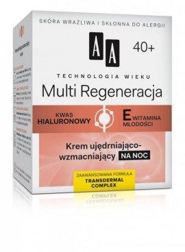 AA Technologia Wieku 40+ Multi Regeneracja Krem ujędrniająco-wzmacniający na noc  50ml