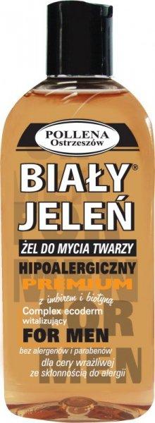 Biały Jeleń Żel do mycia twarzy hipoalergiczny premium Men Imbir i Biotyna