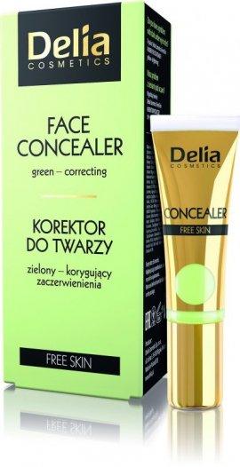 Delia Cosmetics Free Skin Korektor zielony korygujący do cery naczynkowej 10ml