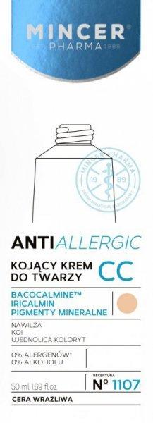 Mincer Pharma Anti Allergic Krem CC kojący do cery wrażliwej nr 1107  50ml