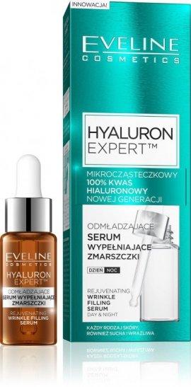 Eveline Hyaluron Expert Serum wypełniające zmarszczki 100% kwas hialuronowy 18ml