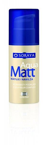 Soraya Aqua Matt Podkład matująco-nawilżający nr 104 opalony  30ml
