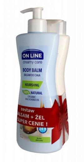 On Line Creamy Care DUO Olej Macadamia (balsam do ciała 400ml+żel pod prysznic 400ml)