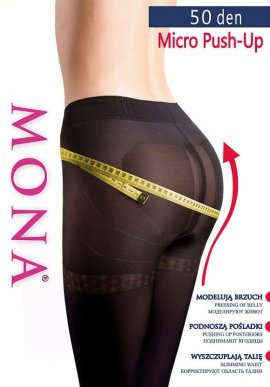 Rajstopy Mona Micro Push-Up 50 den 2-4