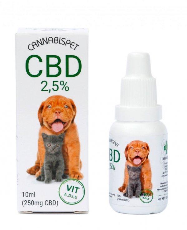 Olejek CBD 2,5% Dla Zwierząt 10 ml