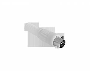 Wtyk anten TV długi biały Cabletech