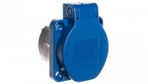 Gniazdo tablicowe 10/16A 2P+Z 230V /50x50/ niebieskie IP54 108-0bc