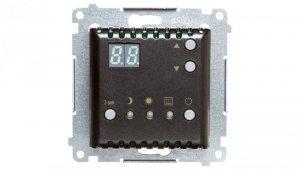 Simon 54 Regulator temperatury z wyświetlaczem, wewnętrzny czujnik temperatury antracyt DTRNW.01/48