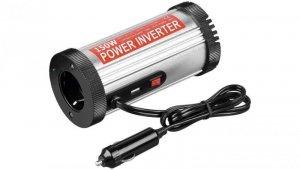 Przetwornica napięcia samochodowa 12V/230V + USB 2,1A 150W 67921