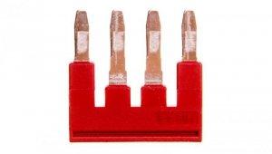 Mostek wtykany 4-biegunowy 6,2mm 32A czerwona FBS 4-6 3030255 /50szt./