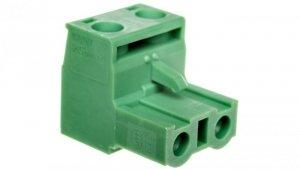 Złączka wtykowa 2P 0,2-2,5mm2 1pin/biegun zielona GMSTB 2,5/ 2-ST-7,62 1766990 /50szt./