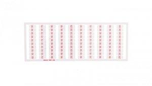 Ramka z oznacznikami 20x 160 170-200 nadruk czerwony 209-556 /5szt./